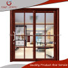 European Style Aluminium Profile Glass Sliding Door with Grill Design