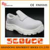 White Fiber Leather Cleanroom Safety Shoes