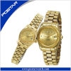 Luxury Couple Wrist Watch with IP Gold Plating