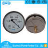 6′′ 160mm Half Stainless Steel Case Brass Internals Vacuum Gauge