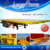 2 Axles Flatbed Container Semi Trailer for Sale
