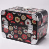 Sunflower Patterns Light Metal Beauty Case