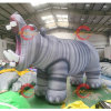 Vivid Inflatable Christmas Figure Inflatable Hippo Animal Inflatable Hippopotamus for Decoration