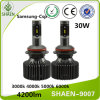 30W 4200lm H1 H7 H3 H4 9007 Auto LED Car Light, 360 Degree