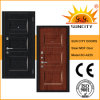 Russia Style Steel Wooden MDF Panel Laminate Door with Veneer (SC-A225)