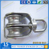 Stainless Steel AISI304 AISI316 Casting Sheave Double Swivel Block