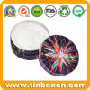 Round Metal Tin Cosmetic Can for Skin Cream Balm