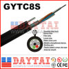 Stranded Steel Wire Fiber Optical GYTC8S Cable for Aerial Duct Application