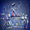 Components of Infusion Set (Y site, three way, clip, spike, chamber, roller)