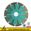 Hhpfc 5 Inch Curved Diamond Saw Blade with Slant Segment for Cutting Stone