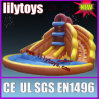 Commercial inflatable water slide with pool for summer