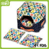 High Quality Floral Pattern Portable Square Pet Dog House&Bed