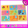 2015 Educational Toy Kids Wooden Math Puzzles, Children Game Wooden Number Puzzles, High Quality Wooden Math Puzzle Toy W14c234