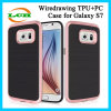 TPU+PC Back Wiredrawing Armor Mobile Phone Protective Case for Samsung S7