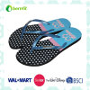 PE Sole and PVC Straps with Logo, Women′s Flipflops