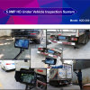 Handheld Tescopic Pole Mobile Under Vehicle Surveillance System for Airport Uvss with Two Cameras