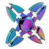 Fidget Spinner Toy, Quad Crabs Hand Spinner Rainbow Color Relieve Anxiet