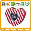Wedding Valentine Gifts Customized Heart Tin Box for Chocolate Candy