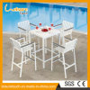 Outdoor Modern Aluminum Bar Set Garden Hotel Home Leisure Birsto Table and Chair Patio Furniture