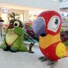 Customized Cute Animatronic Animal Fiberglass Sculpture Cartoon Parrot Statue