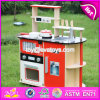 New Design Red Kids Pretend Play Wooden Kitchen Toy W10c211