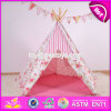 Portable Kids Playhouse Cotton Girls Play Tent Best Sale Indoor Pink Girls Play Tent W08L007