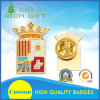 China Manufacture Golden Fabric Face Gifts Metal Lapel Pins in Factory Price