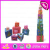 2015 New Item Cube Folding Blocks Cup Stack Toy, Stacking Wooden Square Building Block Toy, Ceative Educational Stack Toy W13D087