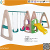 Outdoor Plastic Swing and Slide for Children