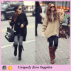 New Style Loose Batwing Pullover Knitted Wool Sweater for Ladies