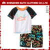 China Cheap Custom Design Screen Printed Rash Guards Kids (ELTRGJ-298)
