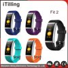 2018 Wholesale Fashion Smart Sports Fitness Bracelet Watch Heart Rate Monitor/Sleep Monitor/Pedometer/Sedentary Reminder/Blood Pressuret USB Charging