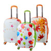 Lightweight Four Wheels 100% PC Balloon Printed Luggage