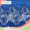 Eco-Friendly Materials Blue Cotton Fabric Multicolor Guipure Lace