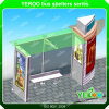 Advertising Outdoor Furniture Steel Structure Bus Stop with Soar System