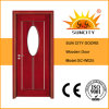 Chinese Oval Glass Bathroom Wooden Doors (SC-W025)