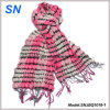 2018 Skinny Stripe Checked Winter Warm Ruffle Bubble Scarves