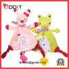 En71 ASTM Safety Pink Rabbit Plush Baby Teether Hankie Toy