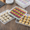 Large Single Layer Refrigerator Food Dumplings Airtight Storage Container Plastic Box
