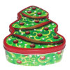 Biscuit Chocolate etc Christmas Tree Shape Food Packing Tinplate Box