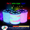 Home Christmas Decorative Single Color Flat 4wire Rope Light