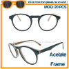 Black Acetate Frame Clear AC Lens Reading Glasses in Stock