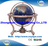 Yaye 18 Copper Plated Stand Ocean Blue Globe with Globe Size 110mm/150mm/220mm/330mm