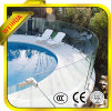 Clear Bent Curved Tempered Glass for Construction Project