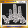 CNC Machining Transparent PC Screw M2-M8