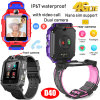 4G Video Call Thermometer GPS Watch Tracker with Heart Rate Blood Pressure D40