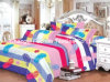 Hot Sale Poly Fashion Bed Sheet 5 PCS Bedding Set