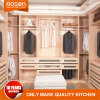 Framing European Style Solid Wood Walk in Closets in Small Rooms