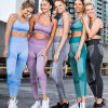 Sports Fitness Suit Seamless Shark Leggings Strappy Sports Bra Yoga Set Sportswear Workout Gym Clothing