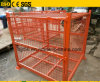 Foldable Stackable Metal Wire Mesh Pallet Container with Lids / Cover